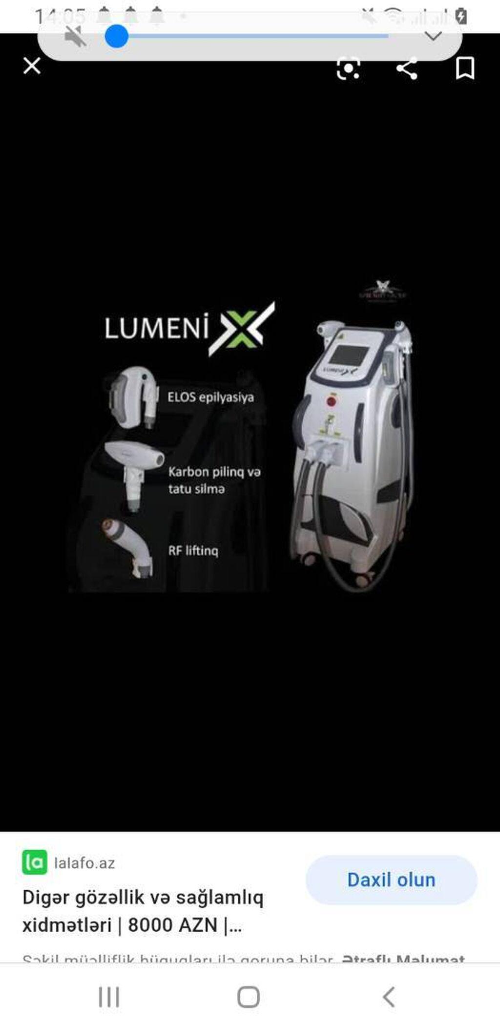 Lazer aparatları - Bakı: Aleksandrit atisUtuleme sistemiTatoo silmeKarbon pilingRf
