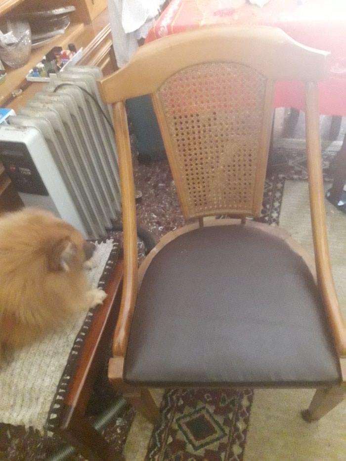 Καρέκλα σε καινουργη,κατάσταση με ψάθα του 1960 τηλ.1. Photo 2
