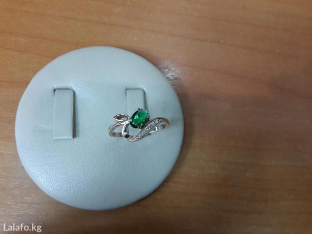 Кольцо с бриллиантами и изумрудом в Бишкек
