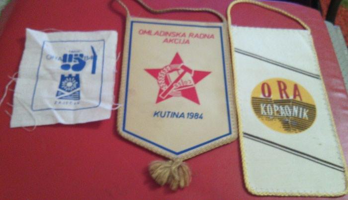 Lot- ORA, dve zastavice i amblem. Photo 0