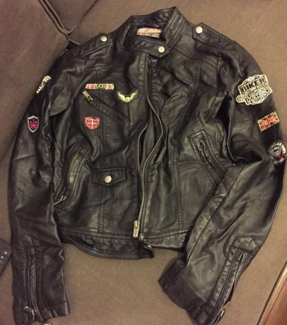 Zara TRF faux leather ladies  bikers jacket with decoration