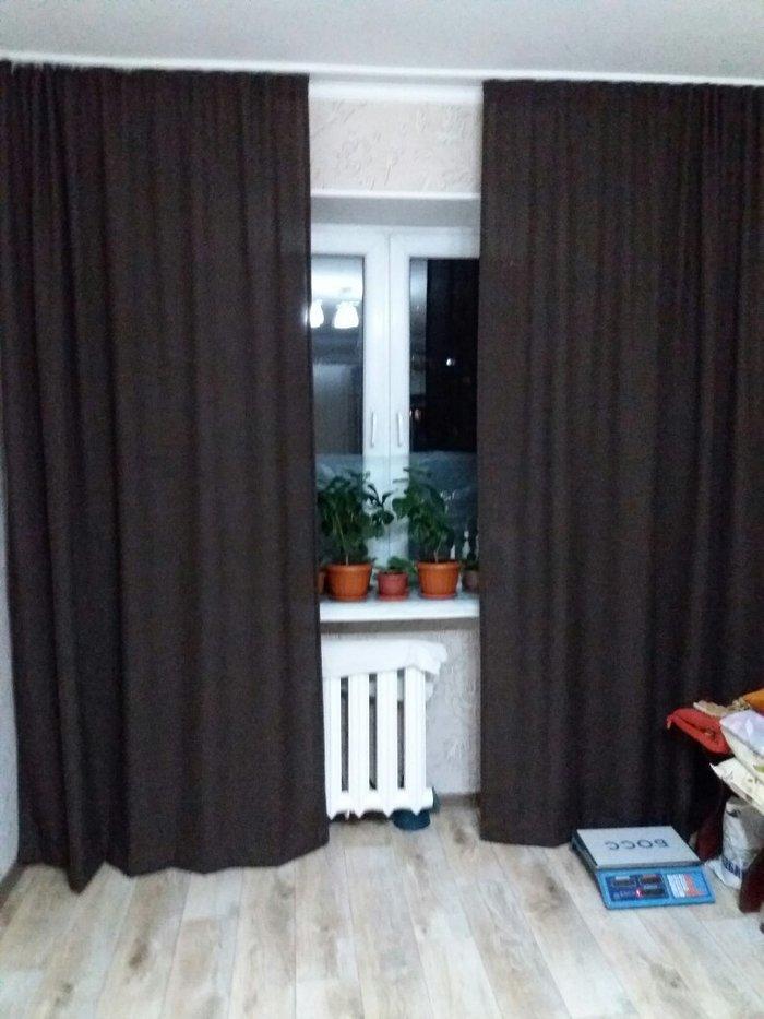 продаю шторы льяные плотные на одно окно,новые. размеры:ширина 1. 40 в в Бишкек