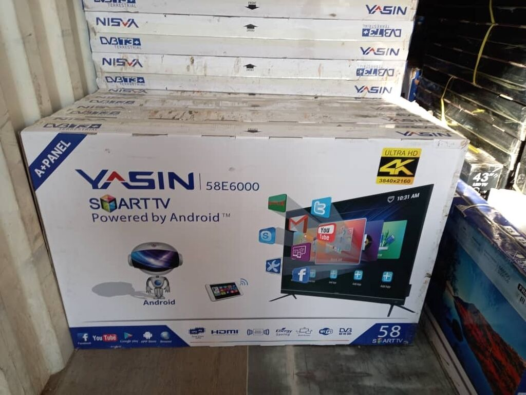 Телевизор Yasin 58E Smart T2 Android: Телевизор Yasin 58E Smart T2 Android