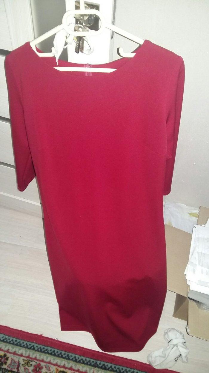 da3586ec3c9 продаю платье футляр бардовый цвет новое размер 46 самопошив за 1000 ...