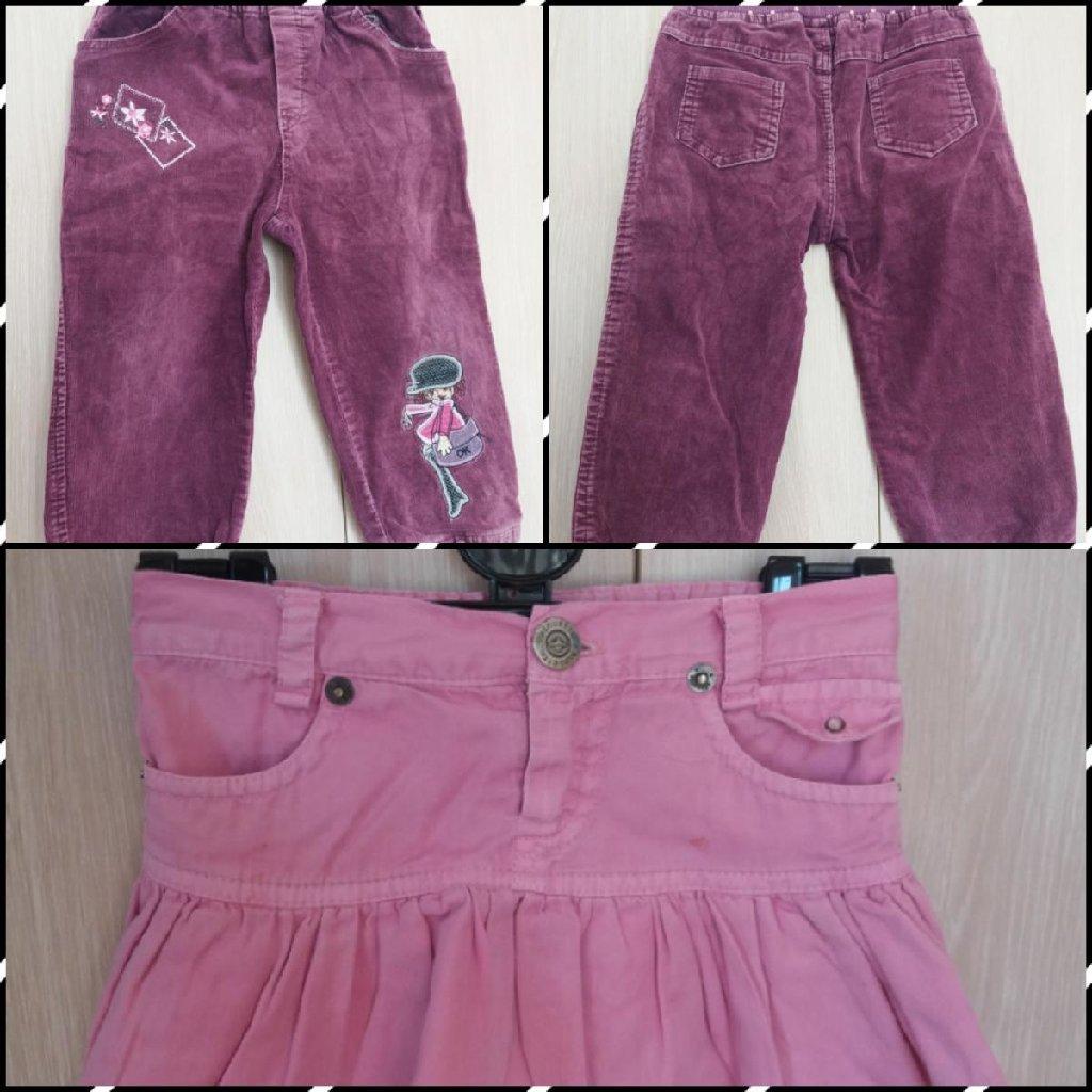 Σετ ροζ φουστα alouette 2 ετων 92 εκ και μοβ παντελονι κοτλε