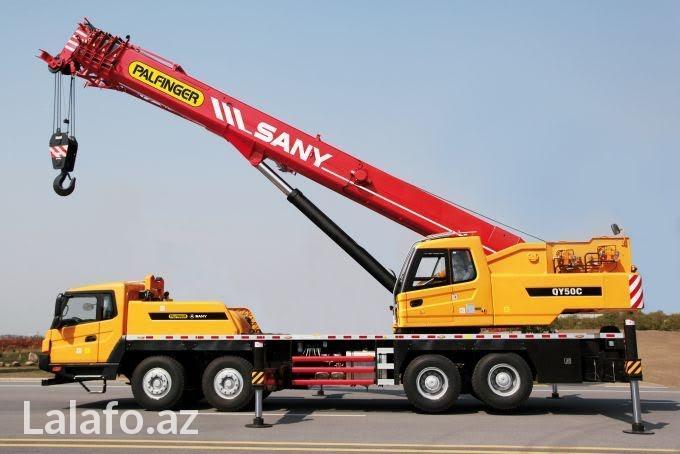 Bakı şəhərində Sany STC250 kran kiraye verilir operator ilə. 25 ton 43 mtr.