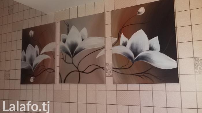 Нарисована маслеными красками под заказ состоит из 3 честей