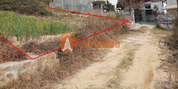 a beautiful residential land having area 1-0–0, facing north, 12 feet in Kathmandu