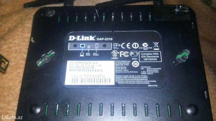 Bakı şəhərində D-llink dap-2310  az işlənib yeni kimidir karopkasi yoxdu