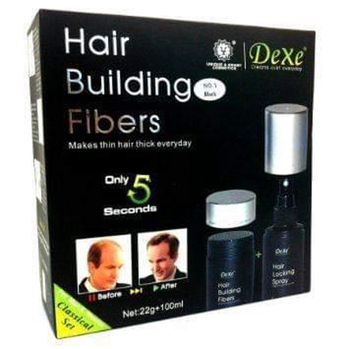 Dexi hair fiber for rehair is really effective product (As seen on tv ),you can trust on it