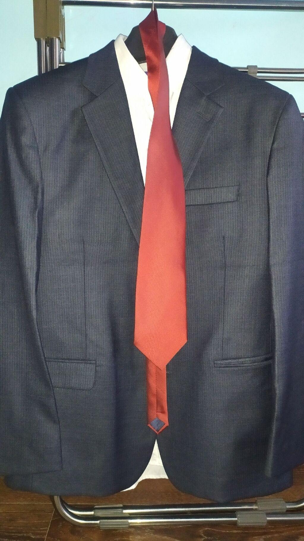 Мужской костюм, новыйОдет всего на часРазмер 50Темно серый цветБрюки: Мужской костюм, новыйОдет всего на часРазмер 50Темно серый цветБрюки