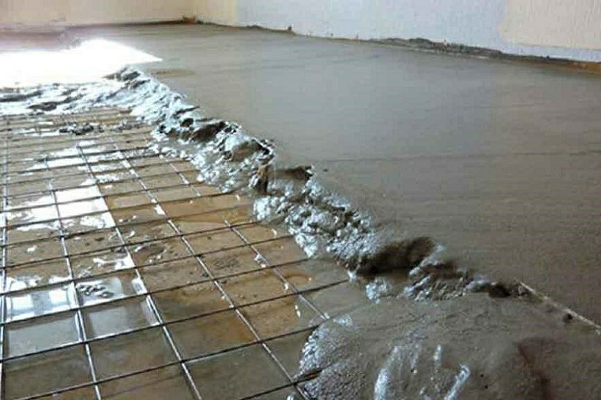 стяжка мытым песком